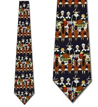 Thanksgiving ties pilgrims indians