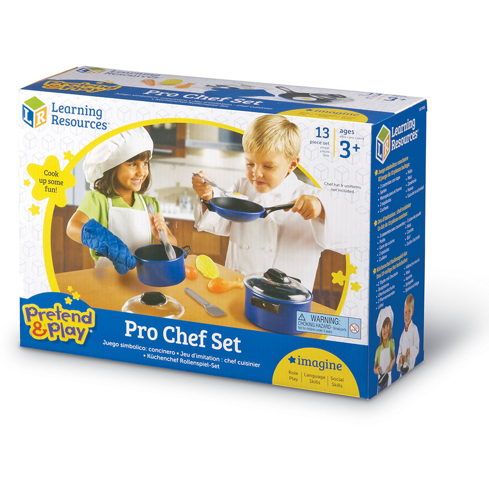 Küchenchefs Tv Now Pretend And Play Pro Chef Set Walmart