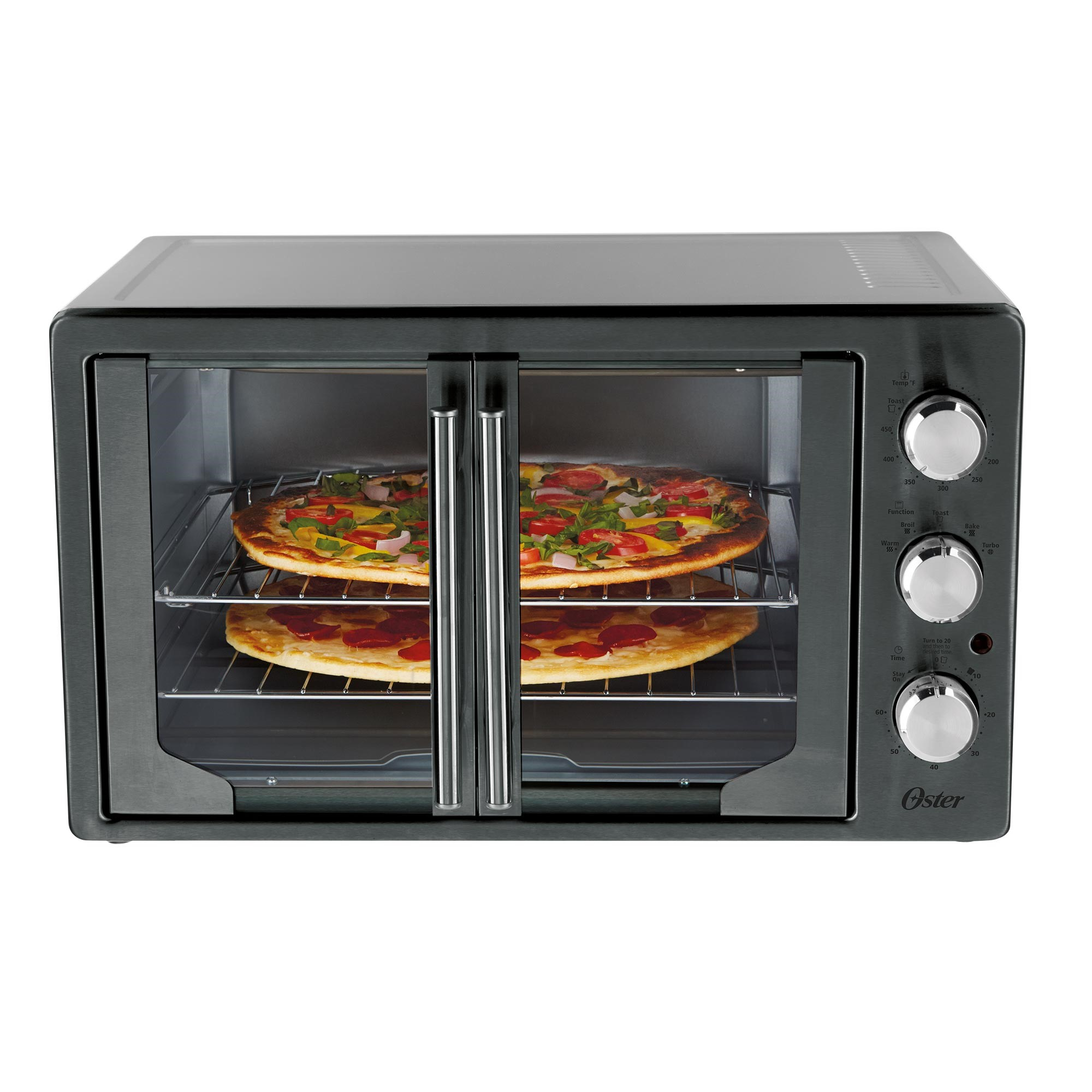 Oster Convection Countertop Oven Reviews Oster Digital Metallic Charcoal French Door Oven With Convection