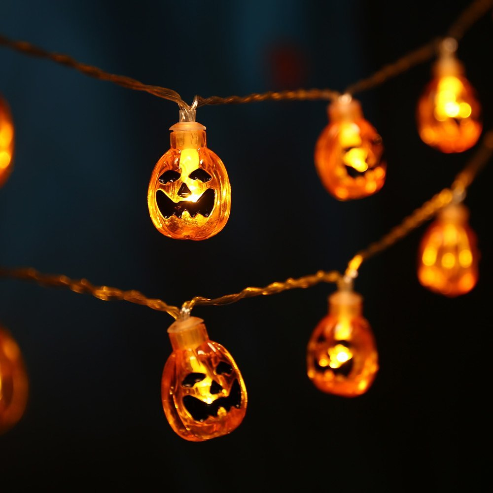 Led Halloween Lights Luckled 20 Led Battery Powered 3d Pumpkin Halloween String Lights Fairy Decorative Warm White Jack O Lantern Lights For Indoor And Outdoor Patio