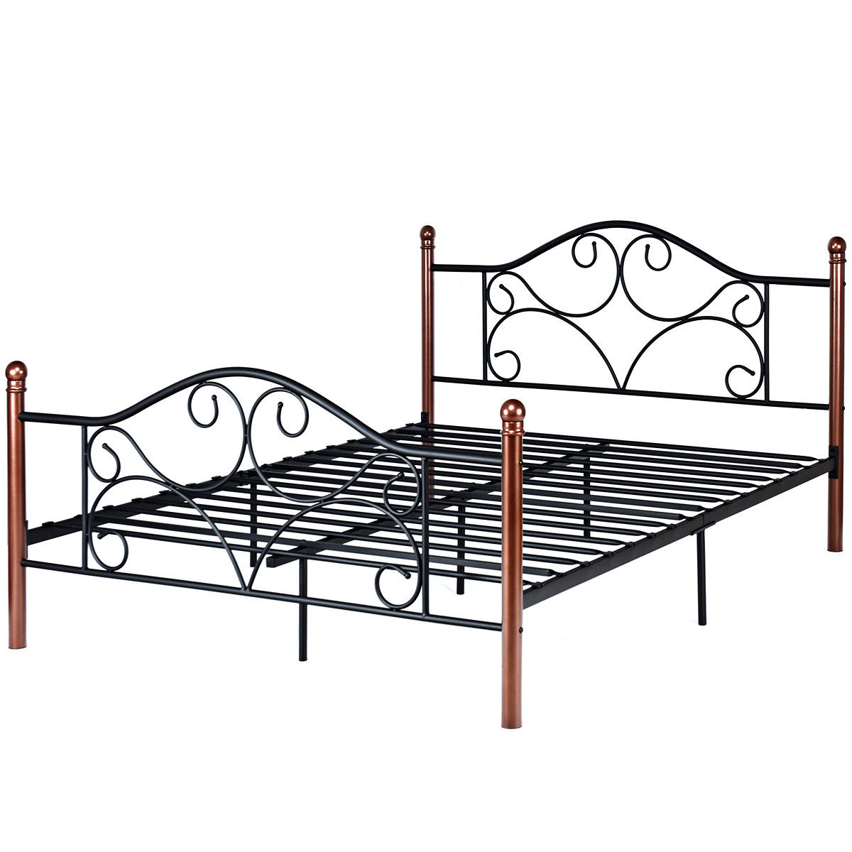Queen Bed Frame Costway Queen Size Steel Bed Frame Platform Stable Metal Slats Headboard Footboard Black