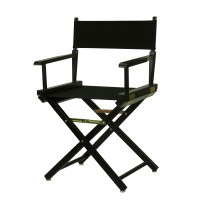"18"" Director's Chair Black Frame-Black Canvas - Walmart.com"