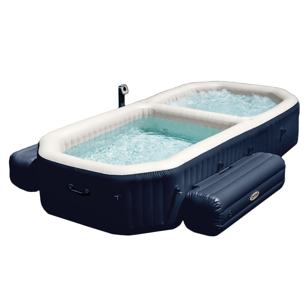 Jacuzzi Pool Dimensions Intex Purespa 4 Person Inflatable All In One Bubble Massage Hot