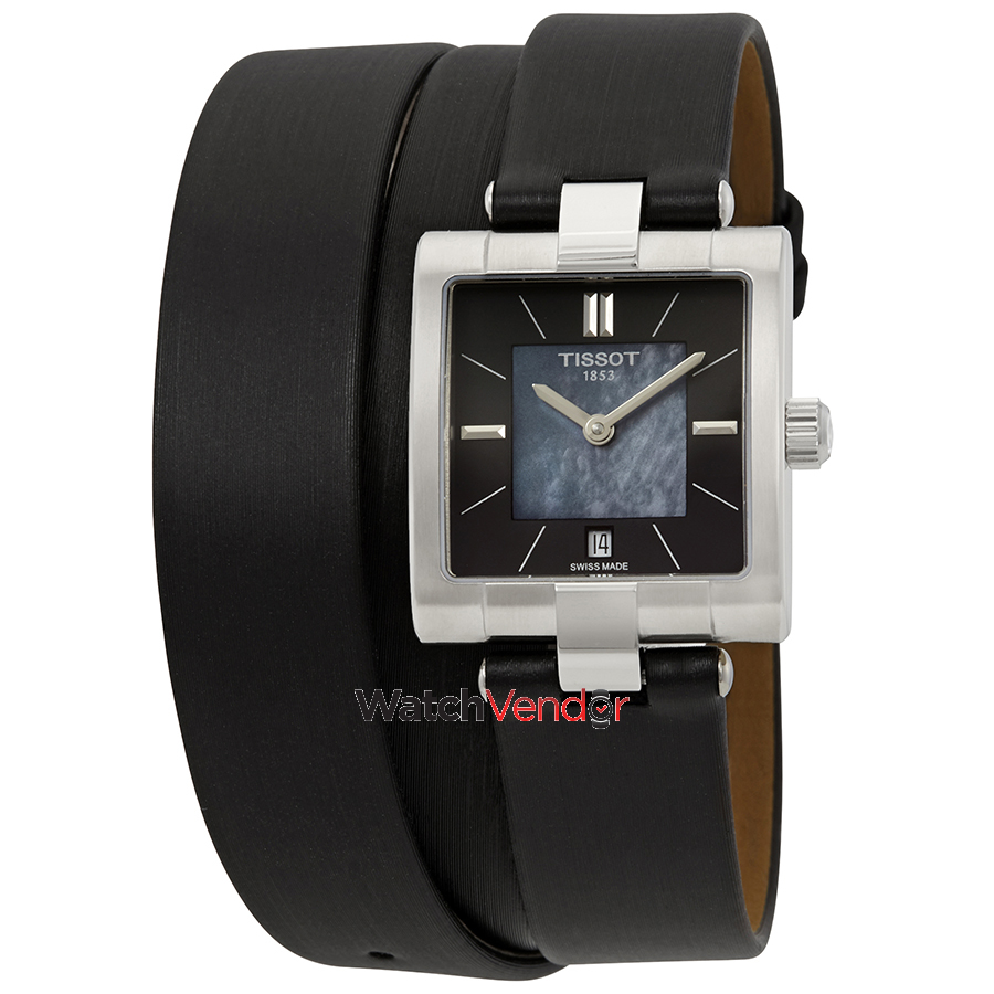 Meuble Tissot Tissot T Collection Black Mother Of Pearl Dial Ladies Watch T090