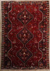 RugSelect Geometric 7x10 Hand Knotted Area Rug for Bedroom ...