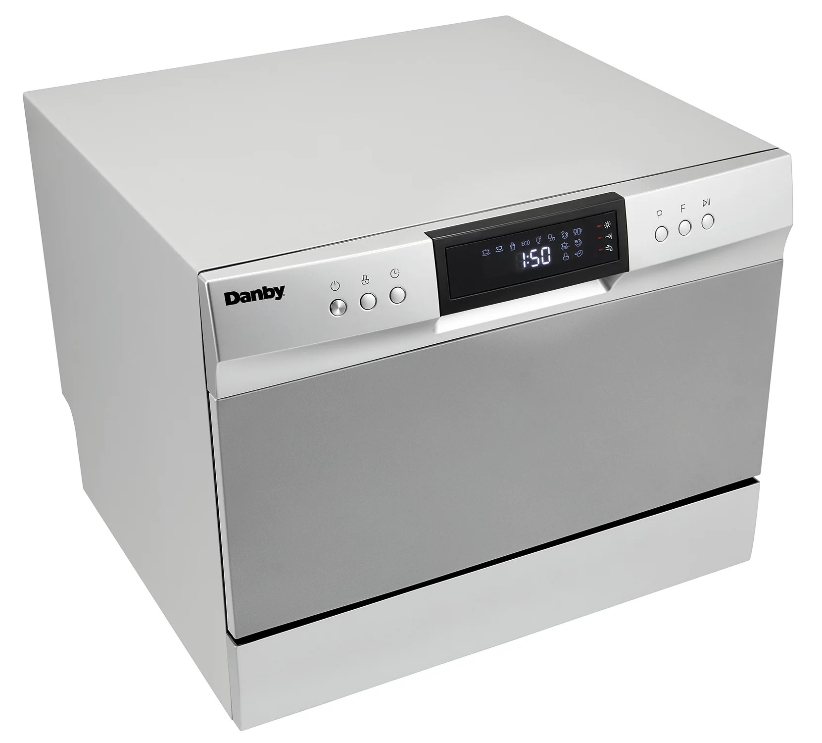 Danby 6 Place Setting Countertop Dishwasher In Silver Walmart Com Walmart Com
