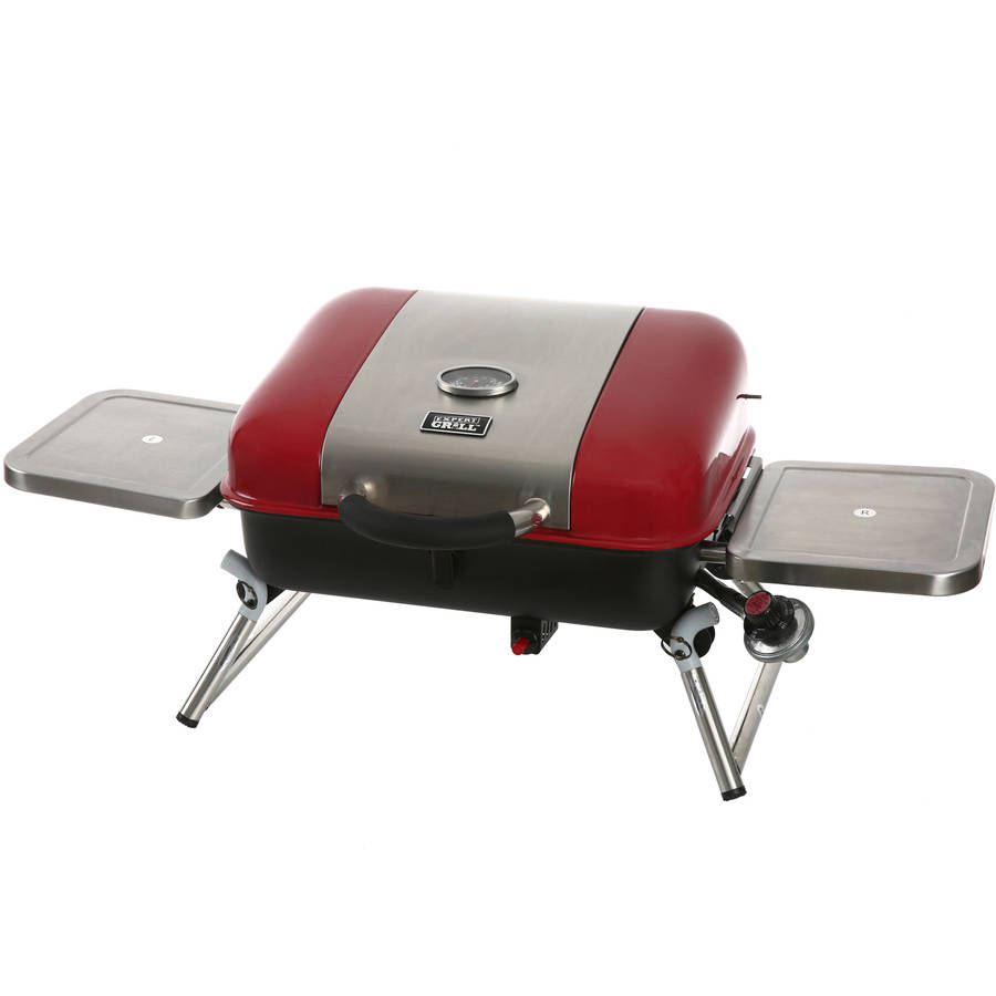 Grill Camping Details About Tabletop Gas Grill Stainless Steel Portable Propane Smoker Outdoor Bbq Camping
