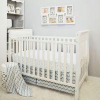 Baby Chevron Crib Bedding Set | White Dot & Blue Chevron 3 ...