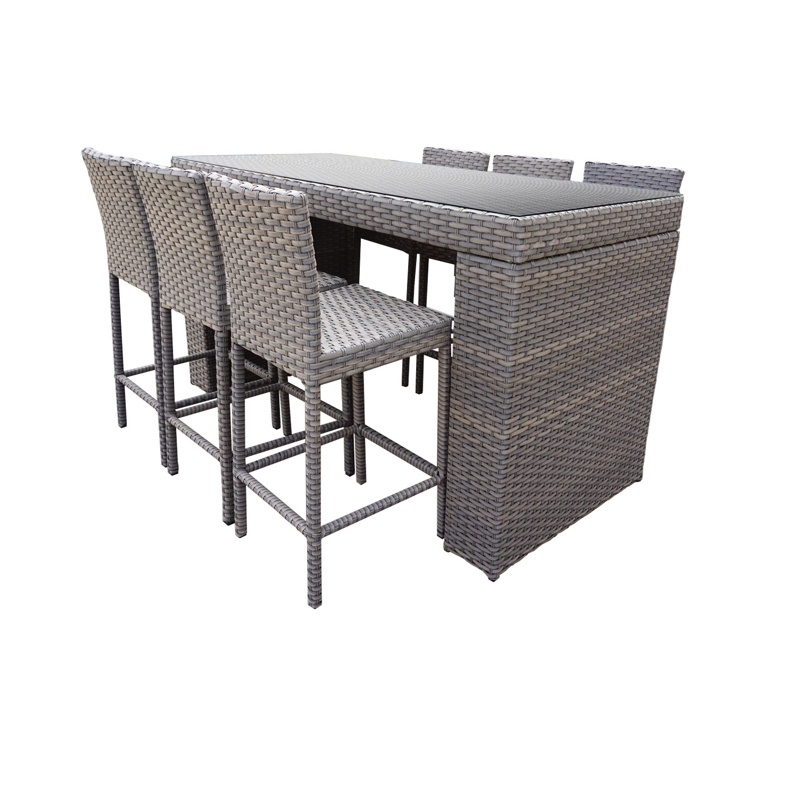 7 Piece Patio Set Bar Table Set With Barstools 7 Piece Outdoor Wicker Patio Furniture