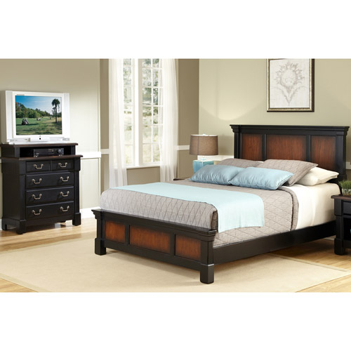 Home Styles The Aspen Collection King/California King Headboard and Media Chest, Rustic Cherry ...