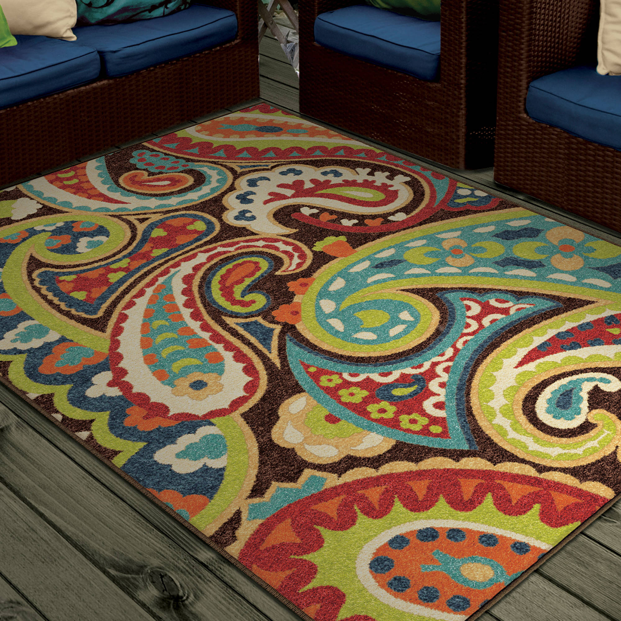 Teal Color Area Rugs Orian Rugs Bright Colors Paisley Monteray Area Rug Or Runner