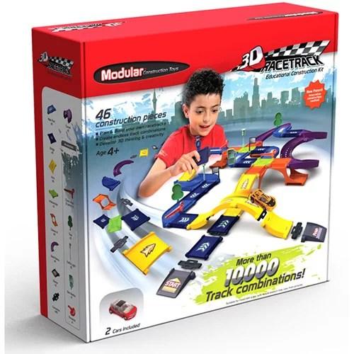 Modular Construction Toys Race Track Kit Walmart