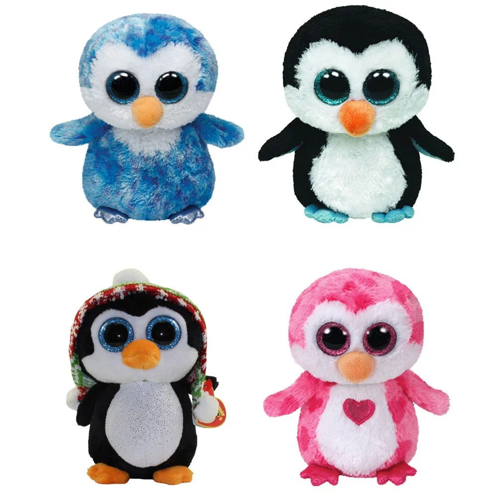 Ty Beanie Boos Set Of 4 Penguins Ice Cube Waddles Juliet Penelope 6 Inch Walmart Com Walmart Com