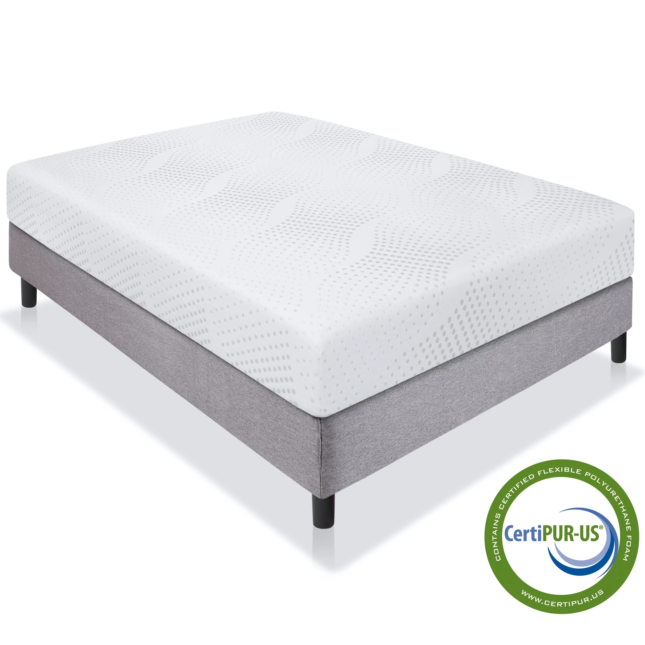 Expanded Queen Mattress Best Choice Products 10in Queen Size Dual Layered Medium Firm