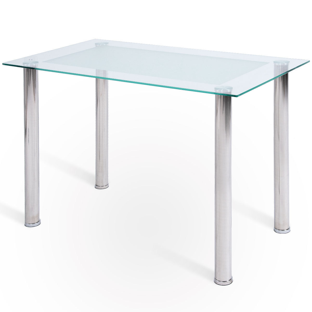 Dining Room Furniture Glass Costway Modern Rectangular Tempered Glass Top Dining Table