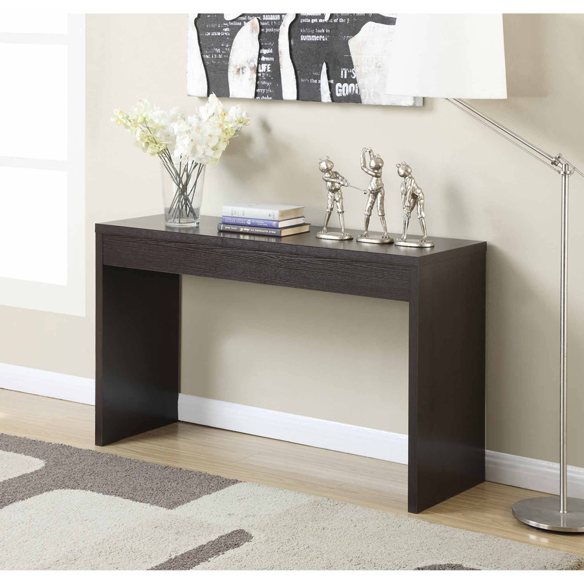 Console De Table Holly And Martin Baldrick Console Table Glass Black