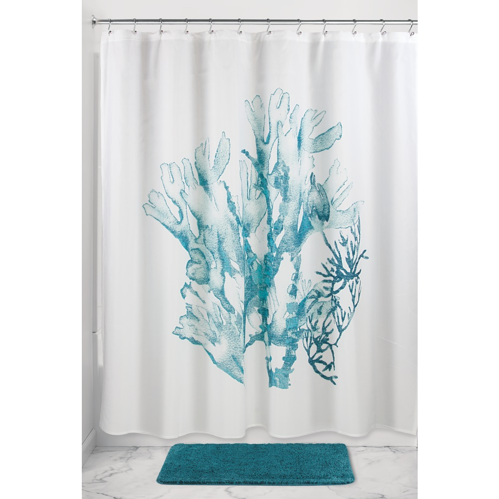 Ariel Shower Curtain Interdesign Coral Fabric Shower Curtain 72