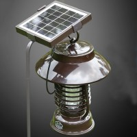 Outdoor Garden Solar Powered Electricity Mosquitoes Moths