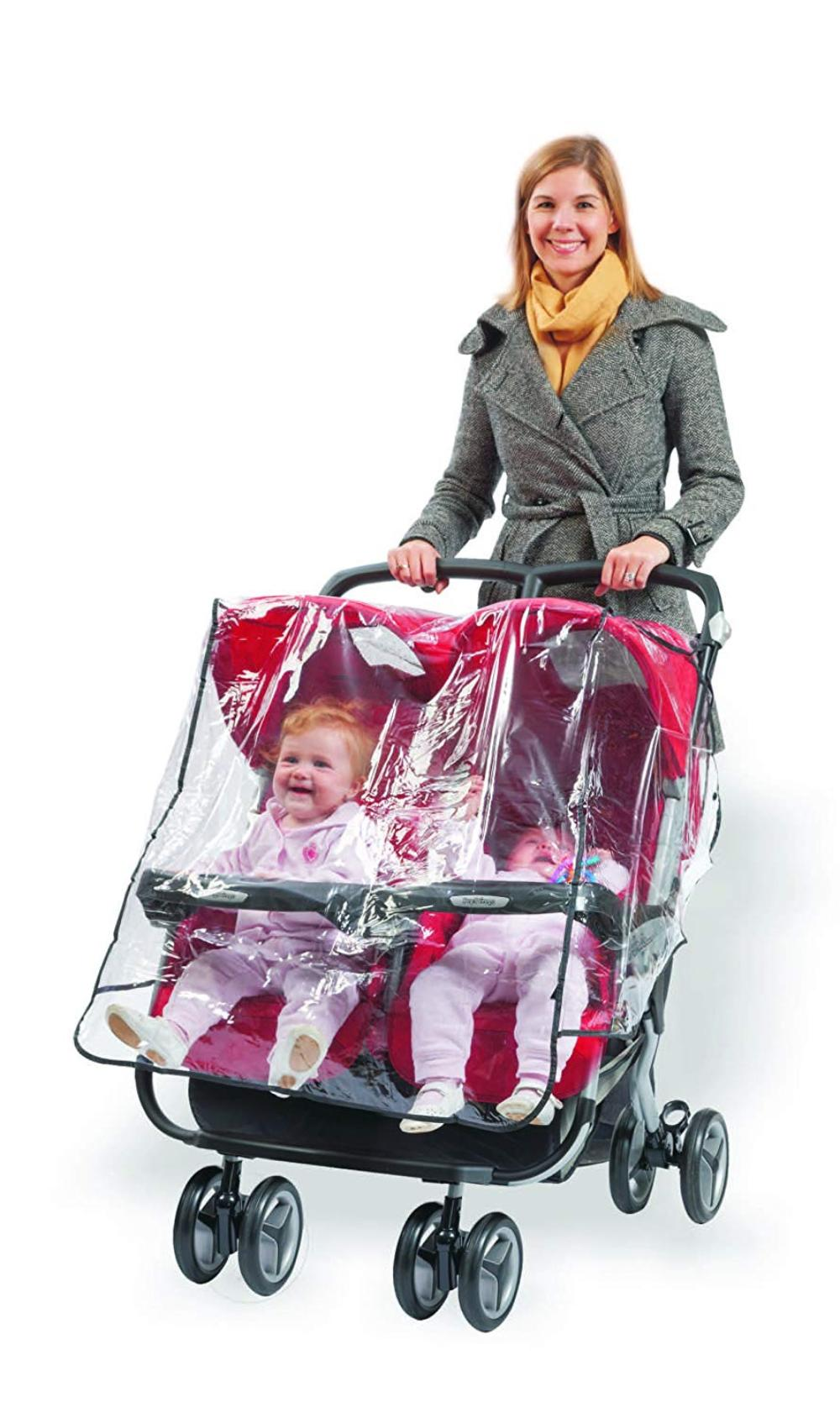 Double Stroller Rain Cover Babyroues Twin Stroller Weathershield Raincover Protects Your Baby From Rain Cold And Wind By Baby Rous