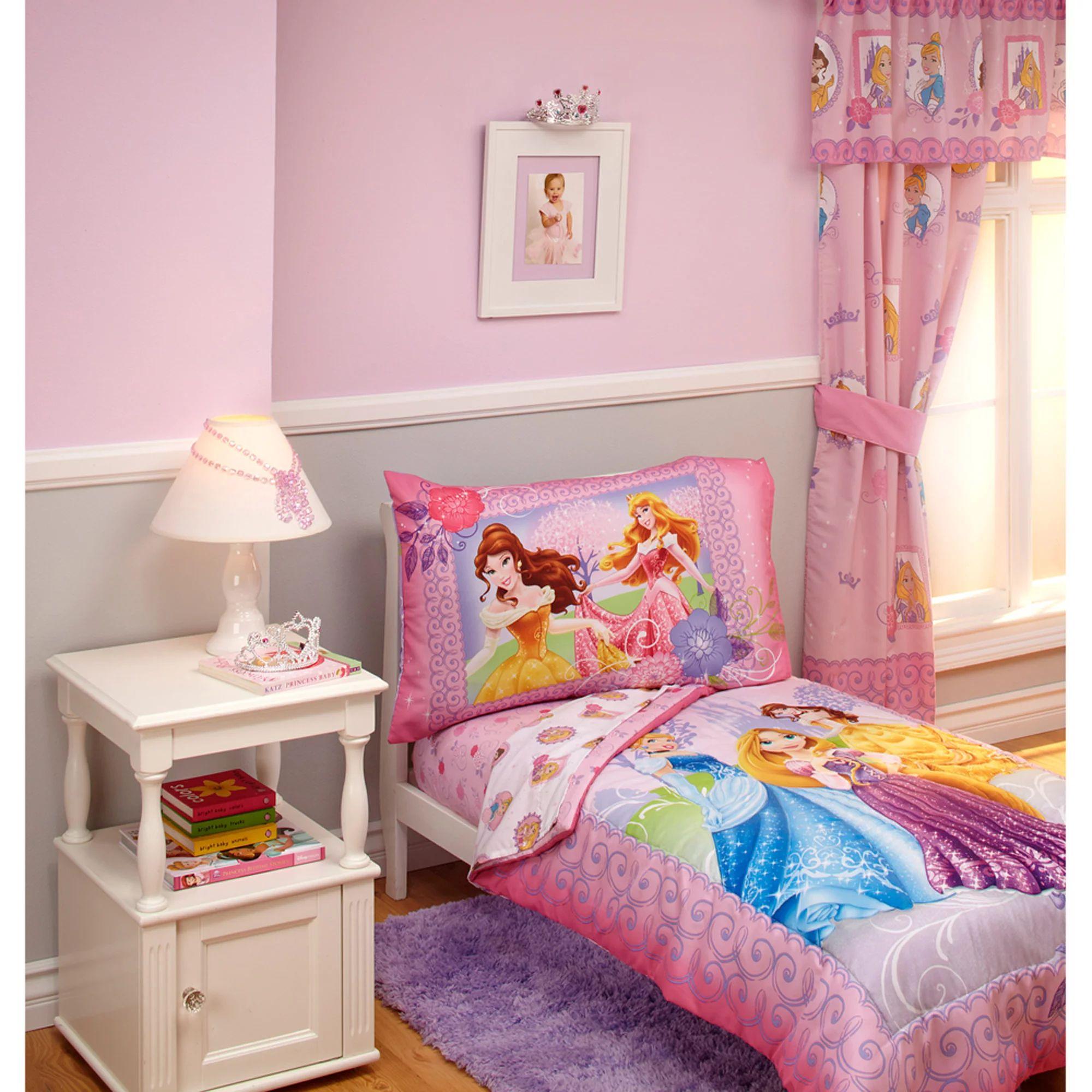 Disney princess timeless elegance 4piece toddler bedding set walmart com