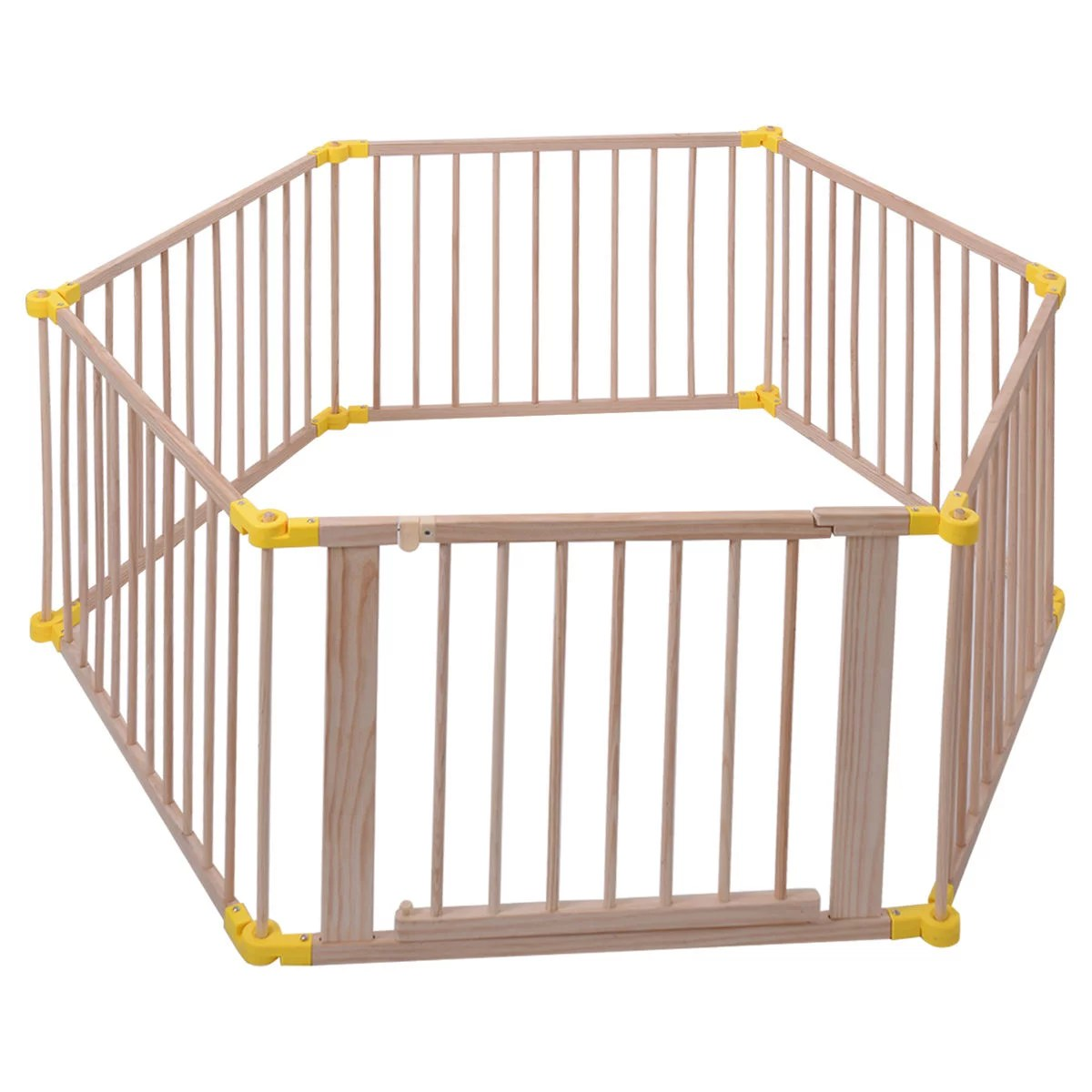 Baby Playpen How Foldable Baby Playpen 6 Panel Wooden Frame Kids Safety Play Fence