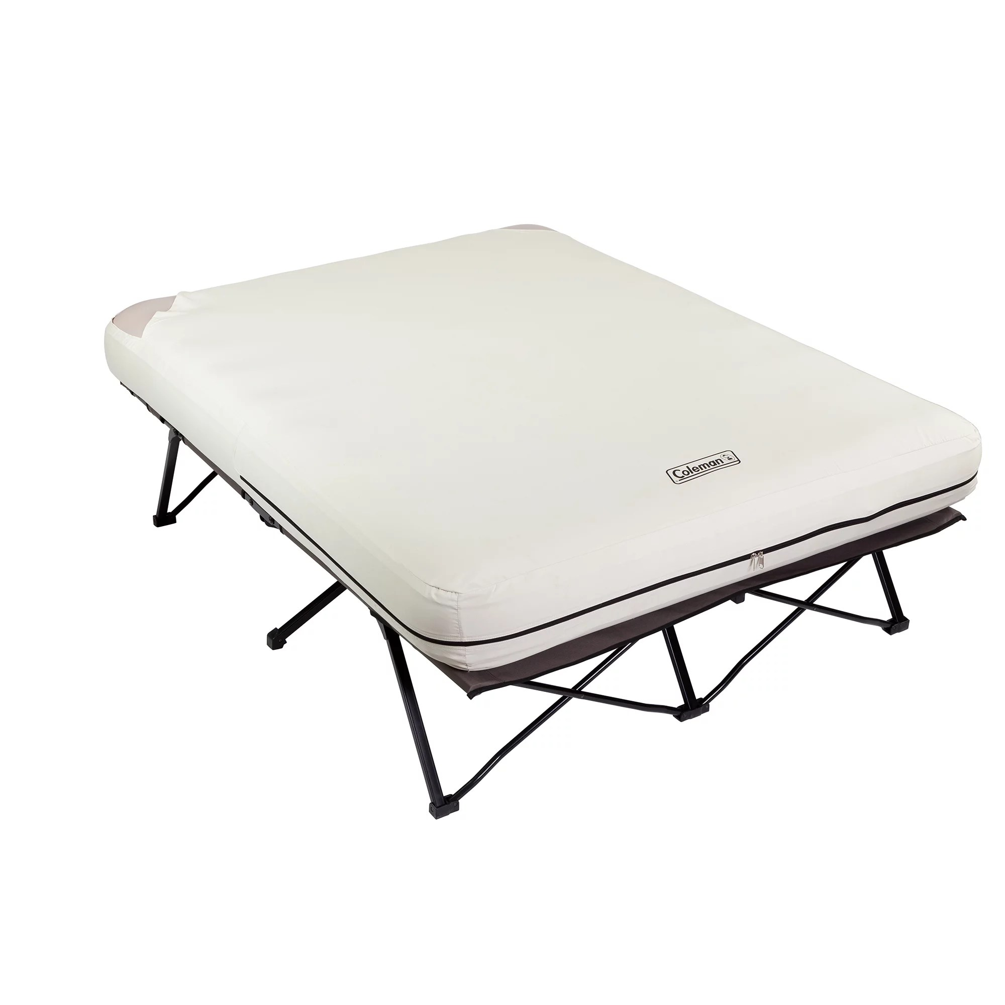 Queen Air Mattress Cot Coleman Folding Airbed With Side Tables And 4d Battery Pump Queen