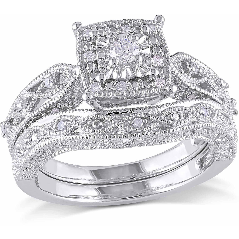 zales diamond wedding rings miabella 1 5 carat t w diamond sterling silver halo bridal set download - Zales Wedding Rings Sets