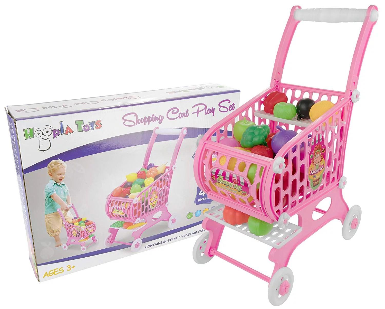 Kids Toddler Pretend Play Toy Shopping Cart Set 48