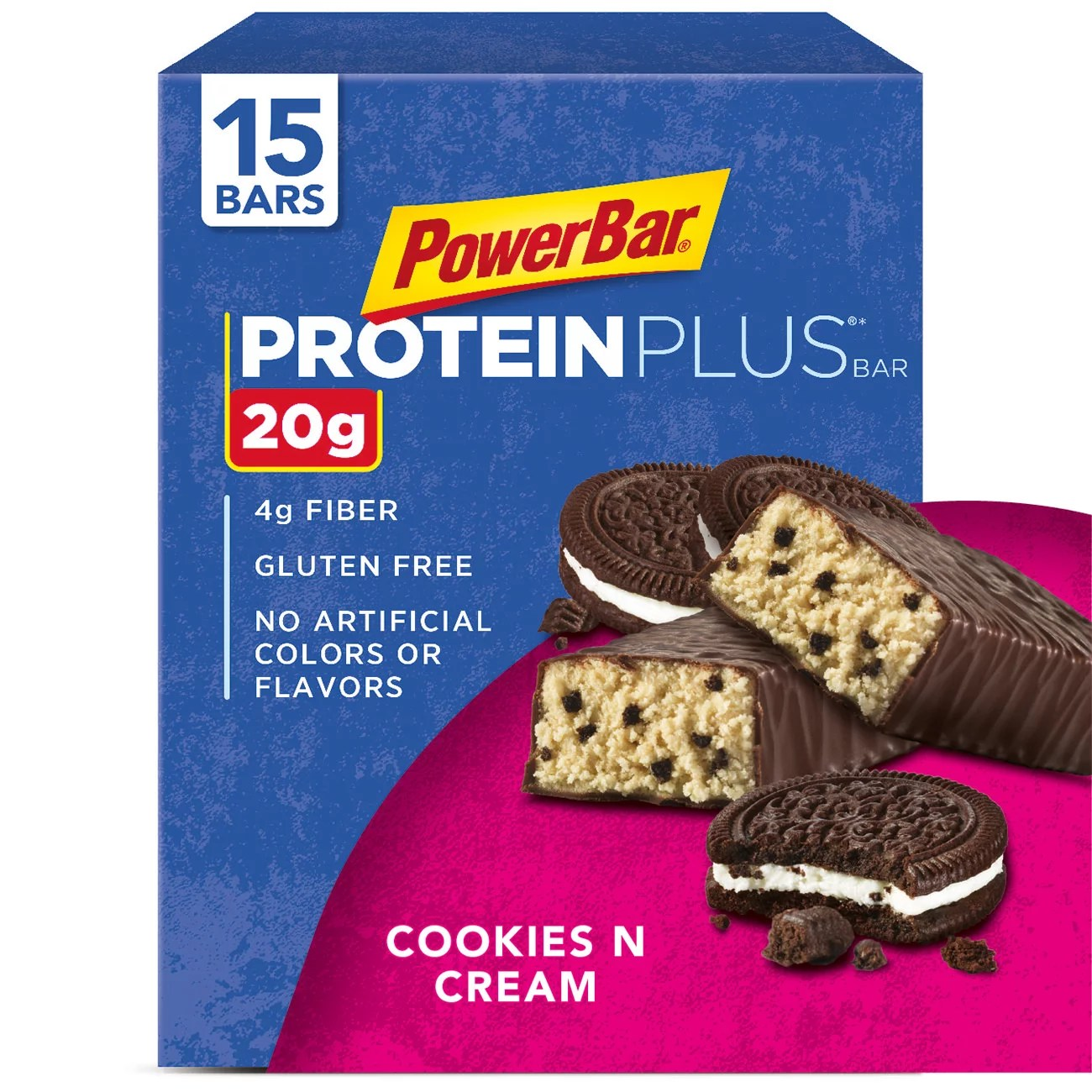 Küchen In U Form Bilder Powerbar Protein Plus Bar Cookies Cream 20g Protein 15 Ct Walmart