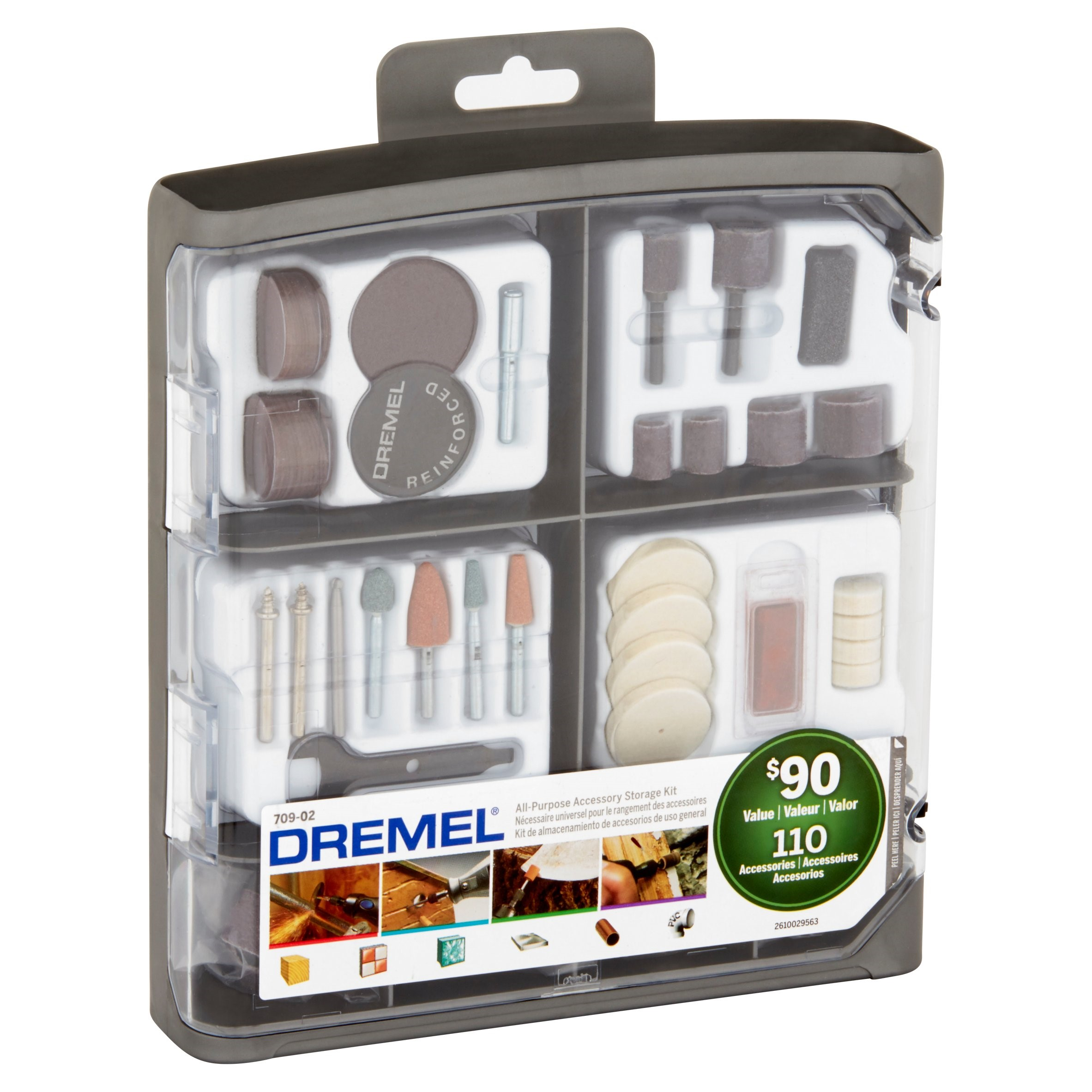 Location Dremel Dremel 709 02 110 Piece All Purpose Accessory Storage Kit