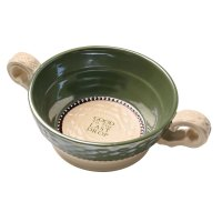 "Celtic Knot ""Good To The Last Drop"" - Green Ceramic Soup ..."