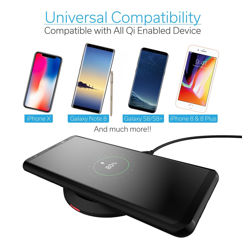 Iphone Cordless Charger Iphone X Wireless Charger Wireless Charger By Cobble Pro 5w Standard Qi Compatible Ultra Slim Wireless Charging Pad W Micro Usb Cable For Apple