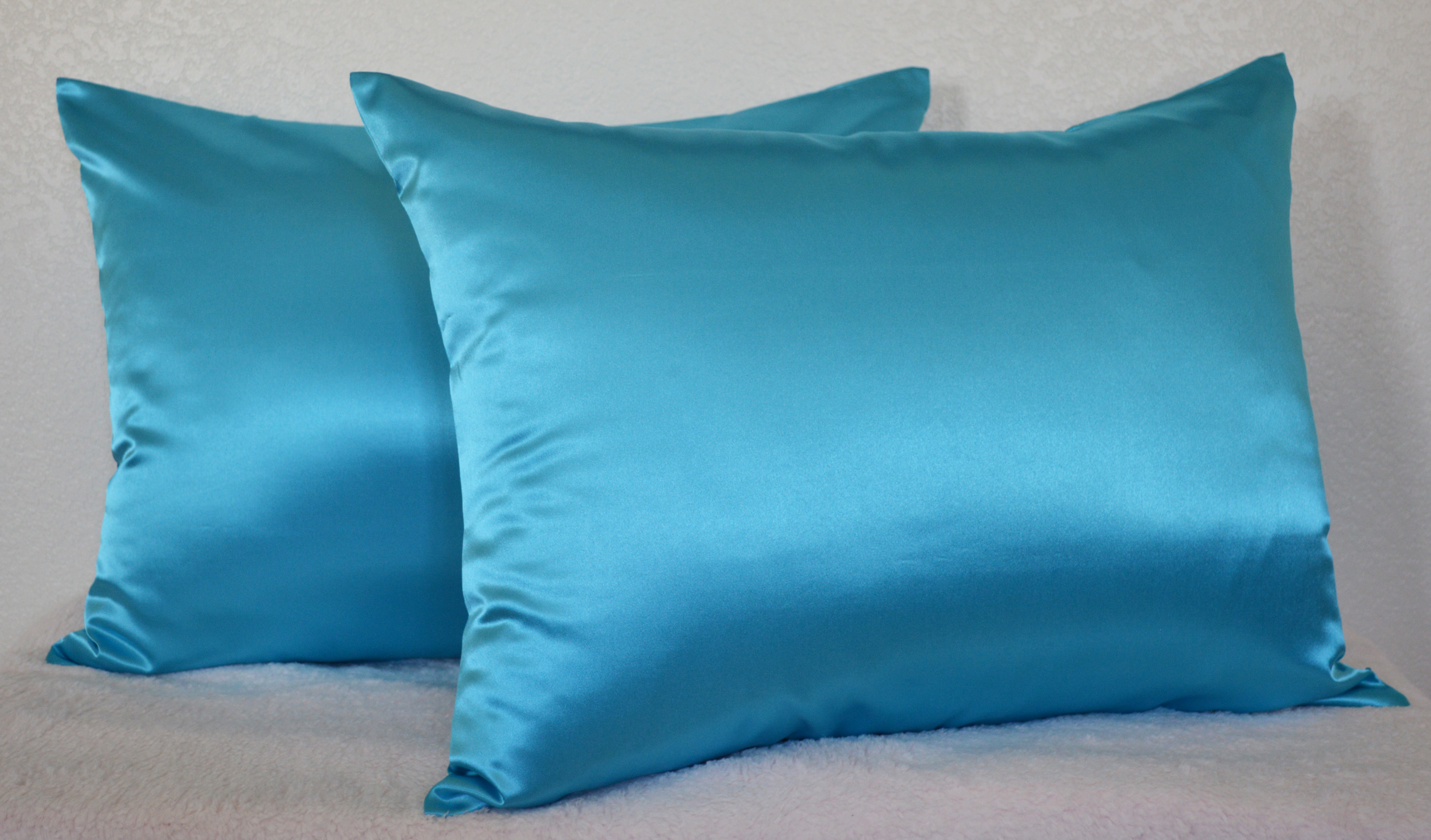 Satin Pillowcases With Zipper Aiking Home 350tc Bridal Satin Pillow Cases Zipper Closure Pack Of 2 Size 20 X26 Standard Turquoise