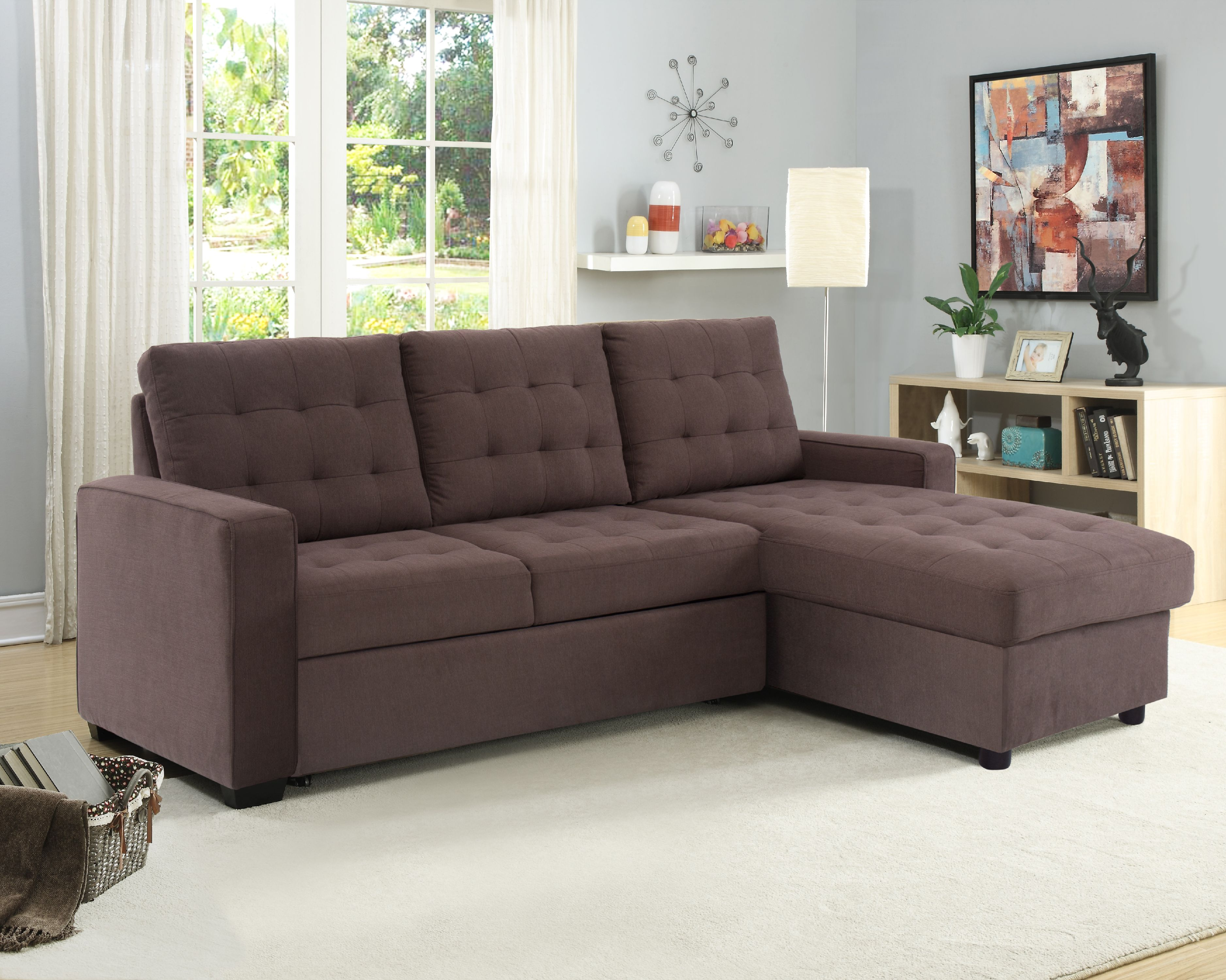 Couches Promotion Serta Bostal Sectional Sofa Convertible Converts Into A Sofa