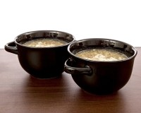 CrockPot Double Handle Ceramic Soup Bowls Savory Sip, Set ...