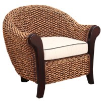 Chic Teak Water Hyacinth Soldano Barrel Chair - Walmart.com