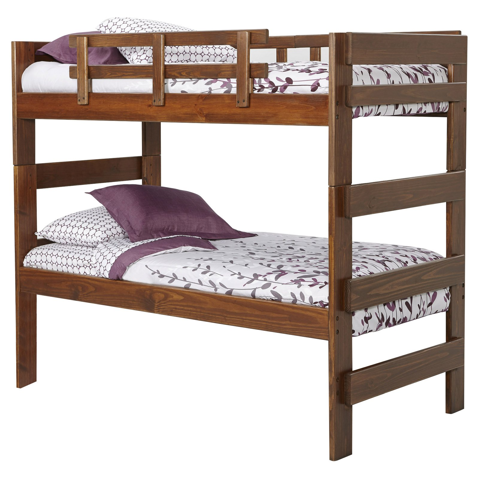 Stackable Twin Beds Woodcrest Heartland Extra Tall Stacking Twin Over Twin Bunk Bed