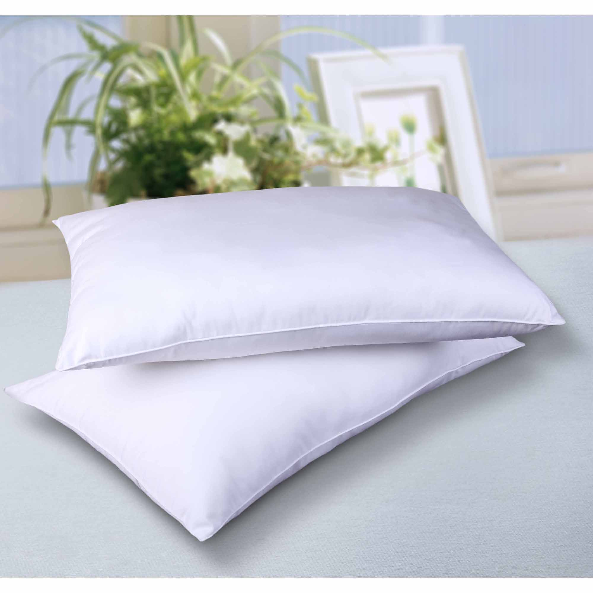 Standard Bed Pillows Cottonloft Self Cooling Cotton Filled Bed Pillow 2 Pack
