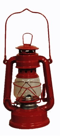 Red Hurricane Kerosene Oil Lantern Emergency Hanging Light