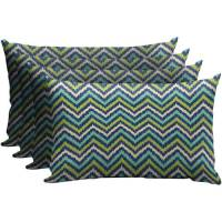 Mainstays Outdoor Patio Lumbar Pillow, Set of 4 - Walmart.com