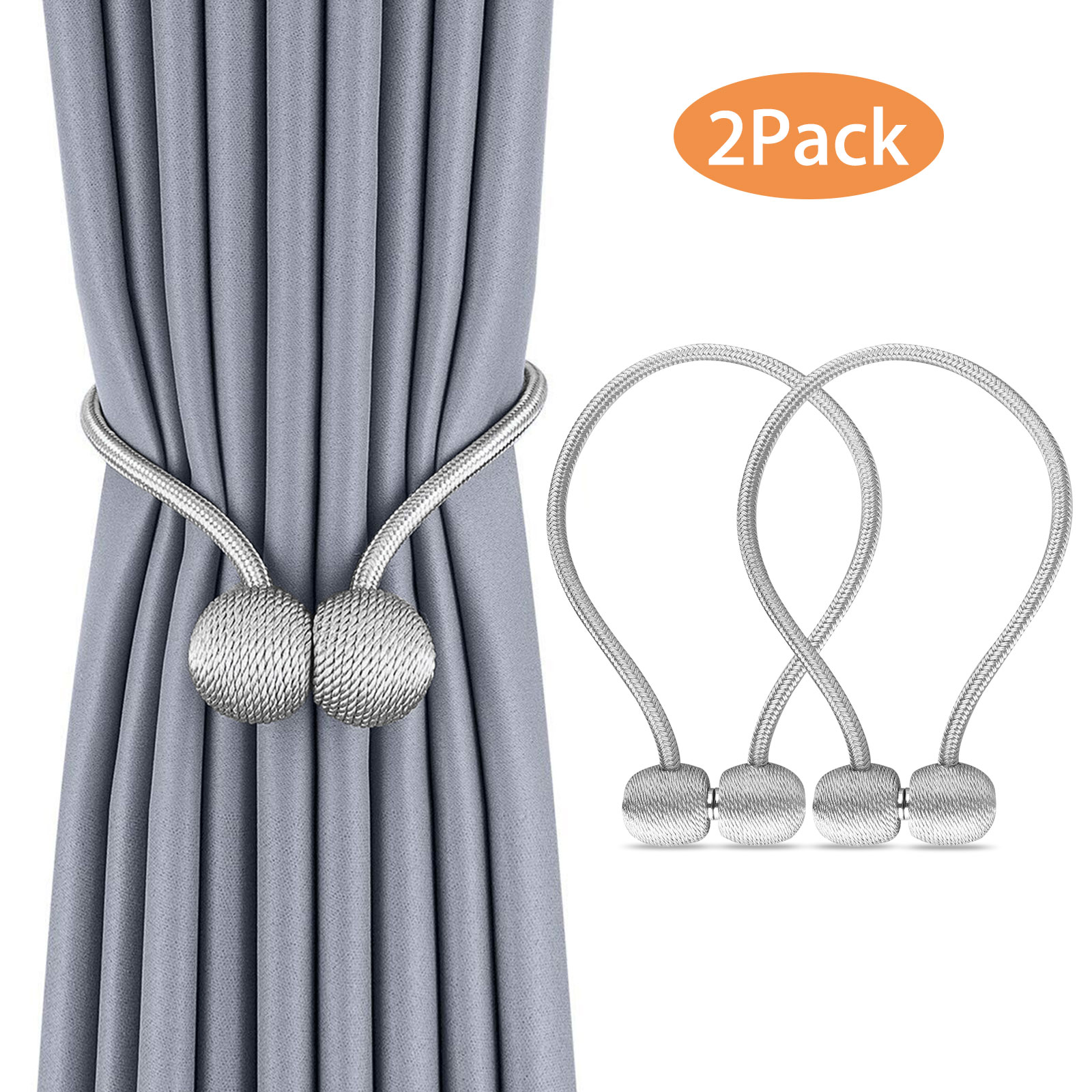Unique Curtain Tie Backs Magnetic Pearl Ball Curtain Tiebacks Tie Backs Holdbacks Buckle Clips Accessory