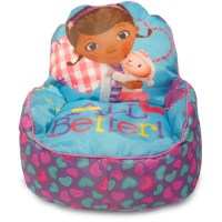 Disney Doc McStuffins Toddler Bean Bag Sofa Chair, Multi ...