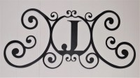 Scrolled Iron Metal Letter J Monogram Personalized Initial ...