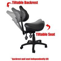 2xhome Ergonomic Adjustable Rolling Saddle Stool Chair ...