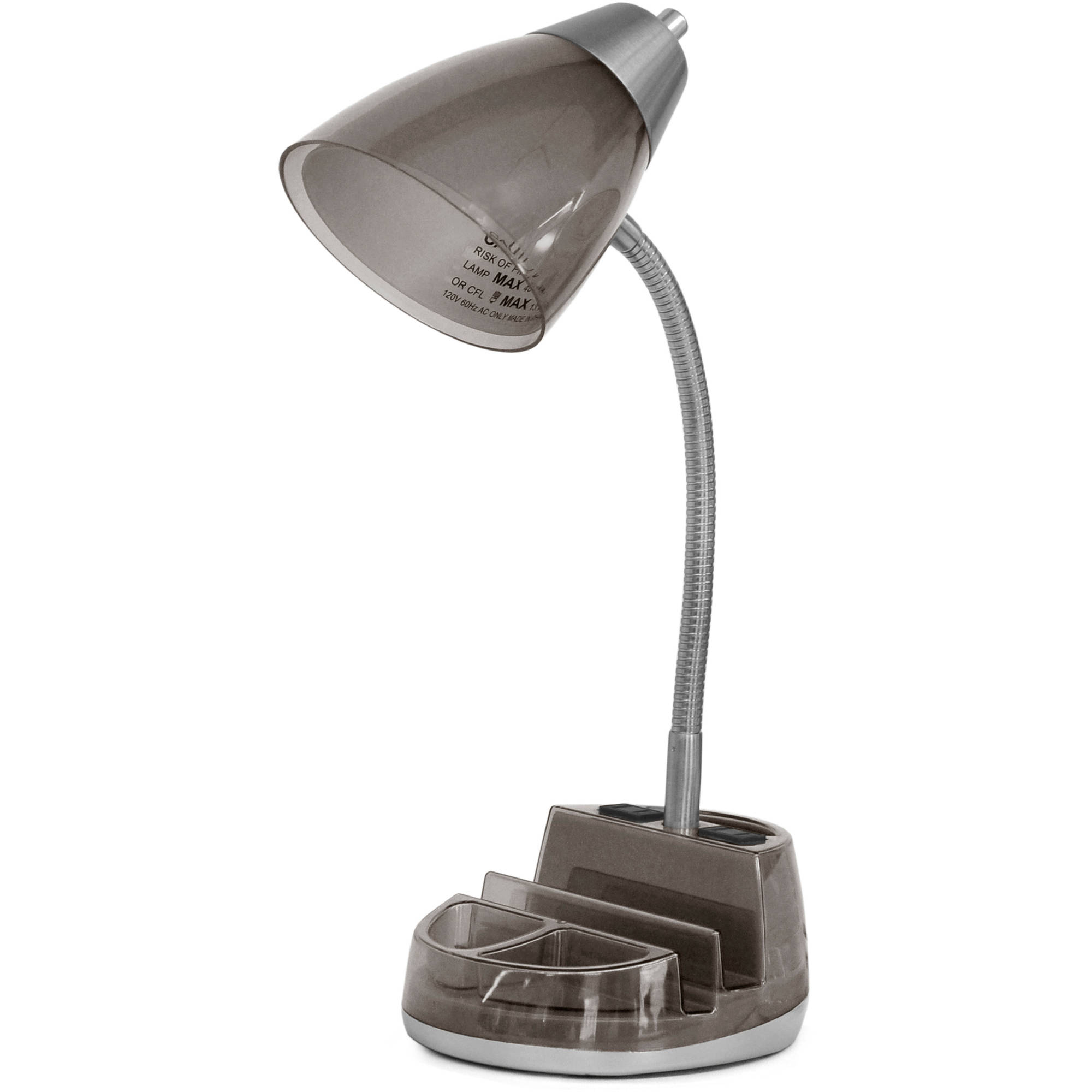 Desk Lamp Mainstays Tablet Organizer Desk Lamp With Cfl Bulb