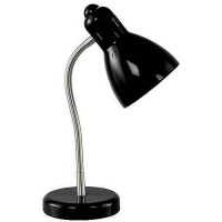 Mainstays Gooseneck Desk Lamp with Brushed Nickel Accents ...