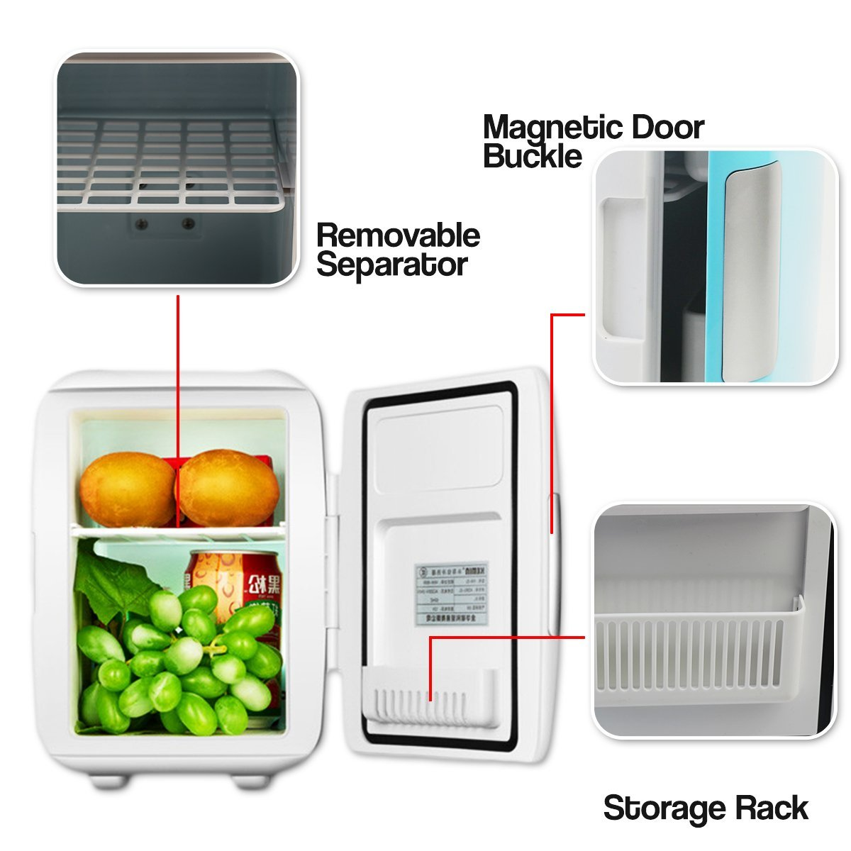 Small Portable Fridge Zone Tech Car Cooling And Warming Mini Fridge 2 In 1 White Portable Thermoelectric System With Ac Dc And Usb Adapters