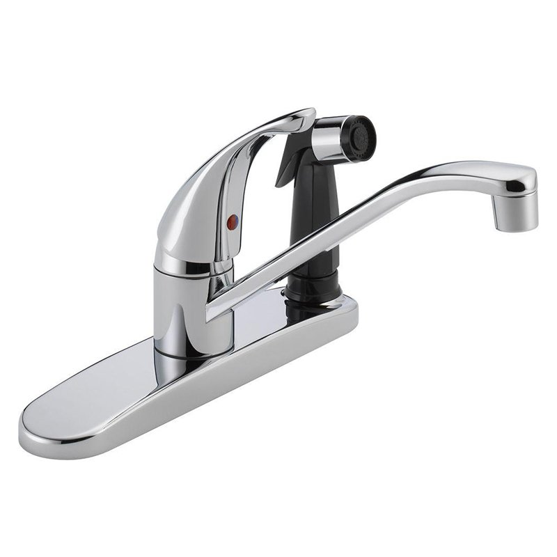 Peerless P114LF Widespread Kitchen Faucet and Side Spray