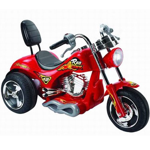 Big Toys Red Hawk 12v Battery Powered Motorcycle Walmart