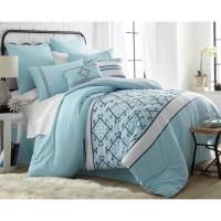 8 Piece Embroidered Comforter Set - Queen - Arizona ...